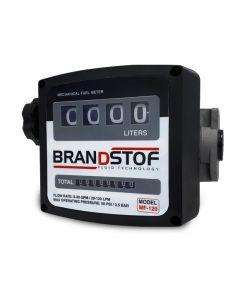 Cuentalitros mecánico 20-120 l/min (Diesel) BRANDSTOF. Dispositivo de lectura mecánica con cilindros numéricos giratorios. Se utiliza en la aplicación de transferencia de combustible, diesel, queroseno, y otros.