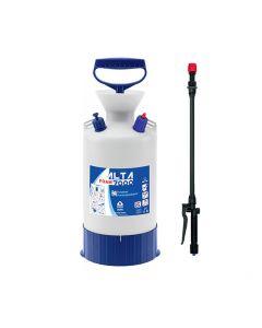 Pulverizador Wassen 7 litros con boquilla para espuma. Se recomienda su uso en amplias vidrieras, remolques de vehículos y para la limpieza interna y externa del automóvil.ba a presión de 7 litros con boquilla para espuma.