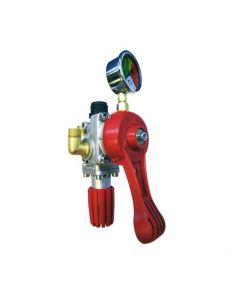 Comando presión máxima de regulación de 40 bar, ideal para atomizadores o para tratamientos de rociadura, fabricado con un material de alta resistencia.