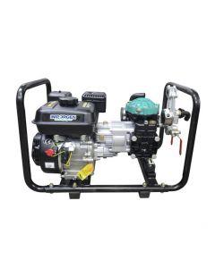 Grupo Motopulverizador Far-30. Equipo compuesto de un motor 5,5 hp 4 tiempos y una bomba 30 L/Min. Ideal para fumigar, desinfectar y sanitizar. Unidad transportable. Incluye accesorios de conexion.