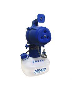 Nebulizador Fumigador ULV MISTIG 220V. Equipo eléctrico que permiter generar una neblina con gotas desde 5 - 50 micras.  Tiene como función impregnar el área de producto deseada por el operador. Equipo profesional uso industrial