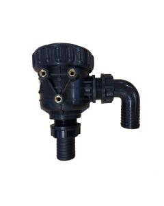 """Filtro aspiración 1"""" 1/2 30 mesh 120 lts válvula interna + kit racor 1"""" 1/4"""