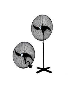 Ventilador industrial DuoFan 750 mm (muro o pedestal) ventilador 2 en 1 puede ajustarse para adaptarse a su espacio. 3 Velocidades
