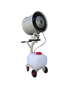 Sistema de enfriamiento Aircool Móvil. Equipo móvil usado en enfriamiento, control de humedad, ventilación, desinfección, abonos foliares y control de olores en lugares como: bodegas, viveros, jardines, invernaderos,etc