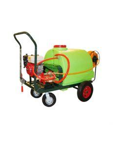 Pulverizador Fumigador Carro 200 L Bencinero 35 L/min, con enrollador, 50mts de manguera y Lanza. Ideal para pulverización