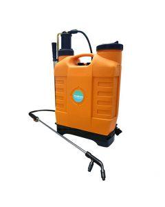 Fumigadora Manual Mochila Espalda Super Orange 18 litros previa presión. Pulverizador manual de espalda con palanca lateral de 18 litros de capacidad